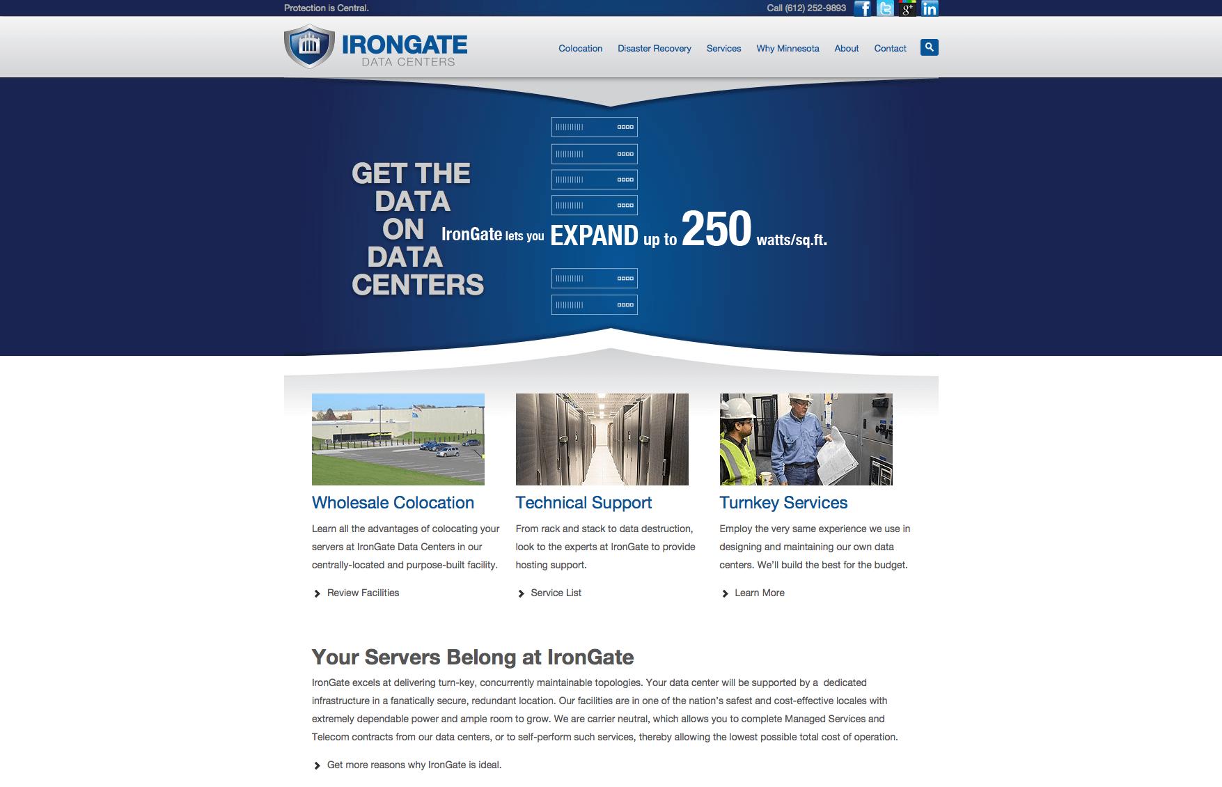 Technology company web development