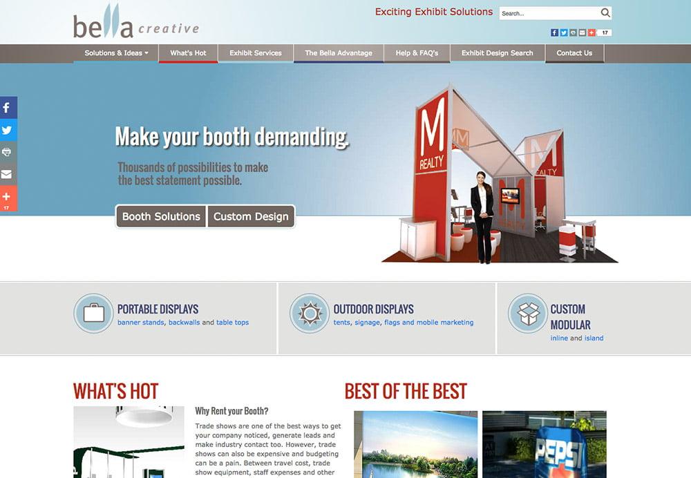 Corporate services booth exhibits web development